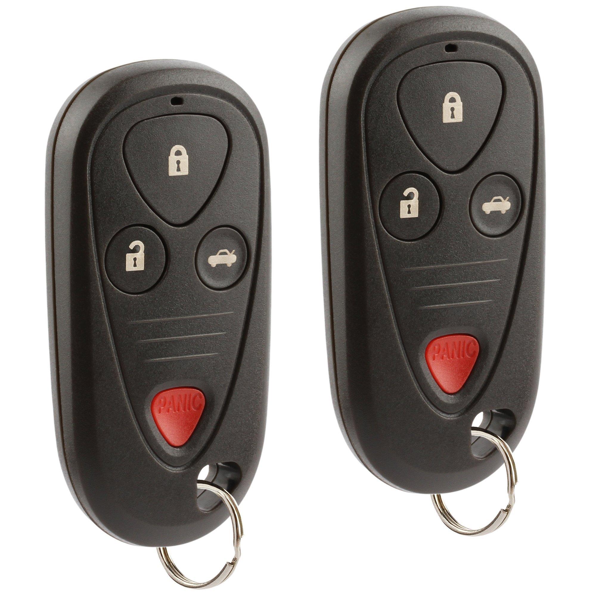 Car Key Fob Keyless Entry Remote fits 2001-2003 Acura CL / 2002-2004 Acura RL / 2002-2003 Acura TL (E4EG8D-444H-A, G8D-444H-A), Set of 2