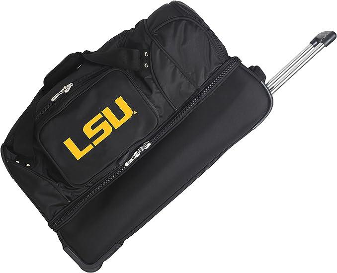 27-inches NCAA LSU Tigers Rolling Drop-Bottom Duffel Bag