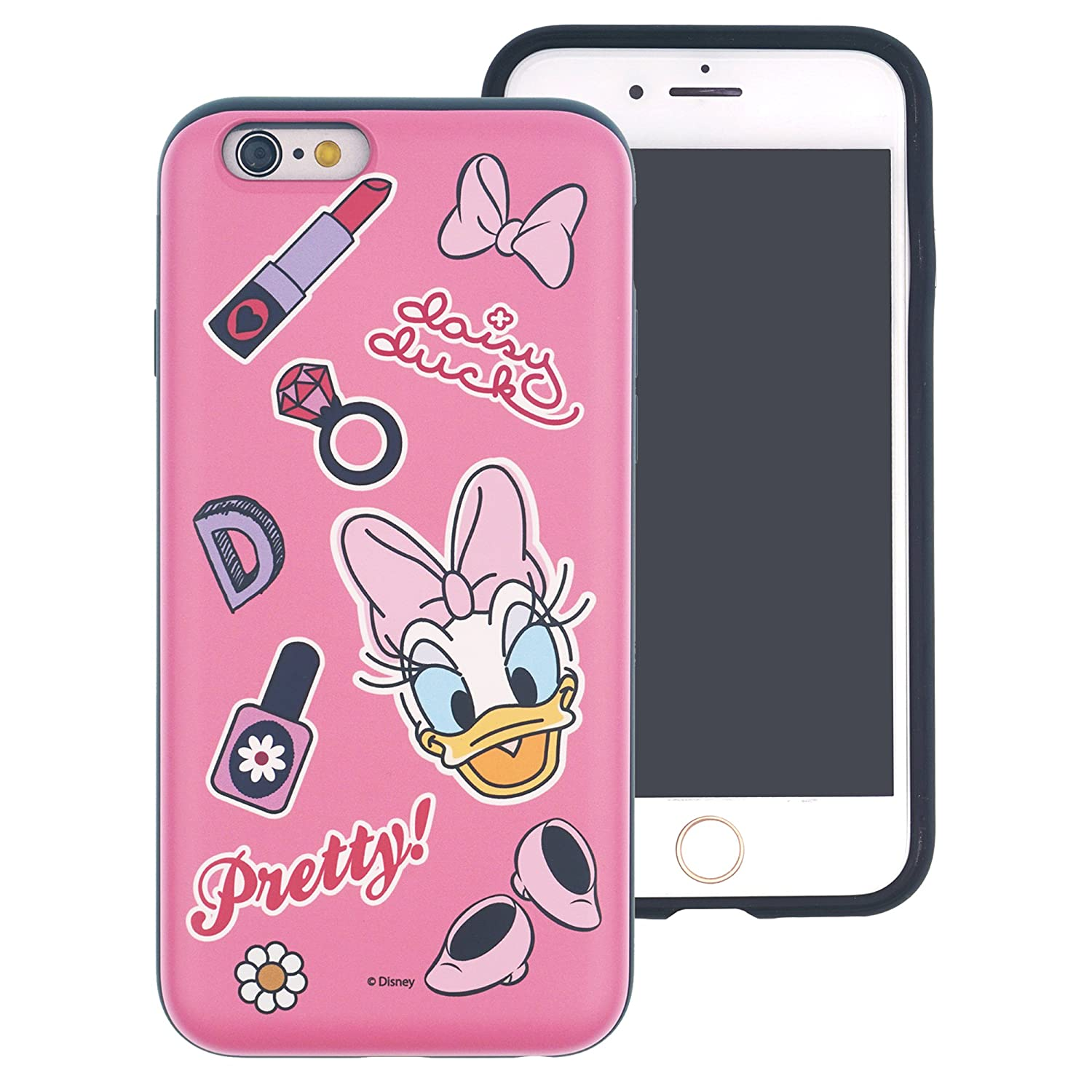 iPhone 8 / iPhone 7 Case, Disney Cute Layered Hybrid [TPU + PC] Bumper Cover [Shock Absorption] for iPhone8 / iPhone7 (4.7inch) - Vintage Couple WiLLBee