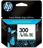 HP 300 Cartouche d'Encre Trois Couleurs (Cartouche Cyan, Magenta, Jaune) Authentique (CC643EE)