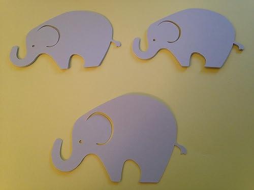 24 Light Gray Dark Gray Elephant Cutout 3 3//4 Inch Elephant Cut Outs Large Elephant Diecut Elephant Baby Shower Elephant Theme