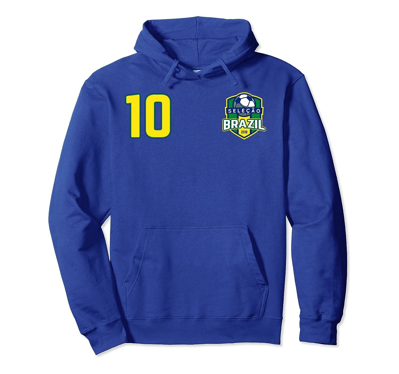 Brazil Soccer Boys Girls Hoodie Flag Jersey 2018- TPT