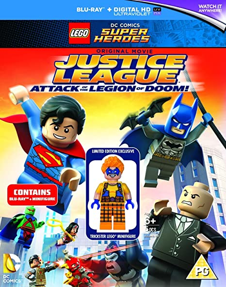 Lego DC Super Heroes Blu-Ray Batman Justice league with Trickster Minifigure New