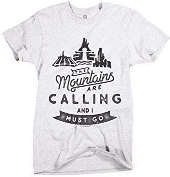 The Mountains are Calling and I Must Go Childrens Long Sleeve Crew Neck Cotton T-Shirts Graphic Shirt for 2-6T Baby
