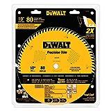DEWALT DW3218PT 10-Inch 80 Tooth ATB Crosscutting