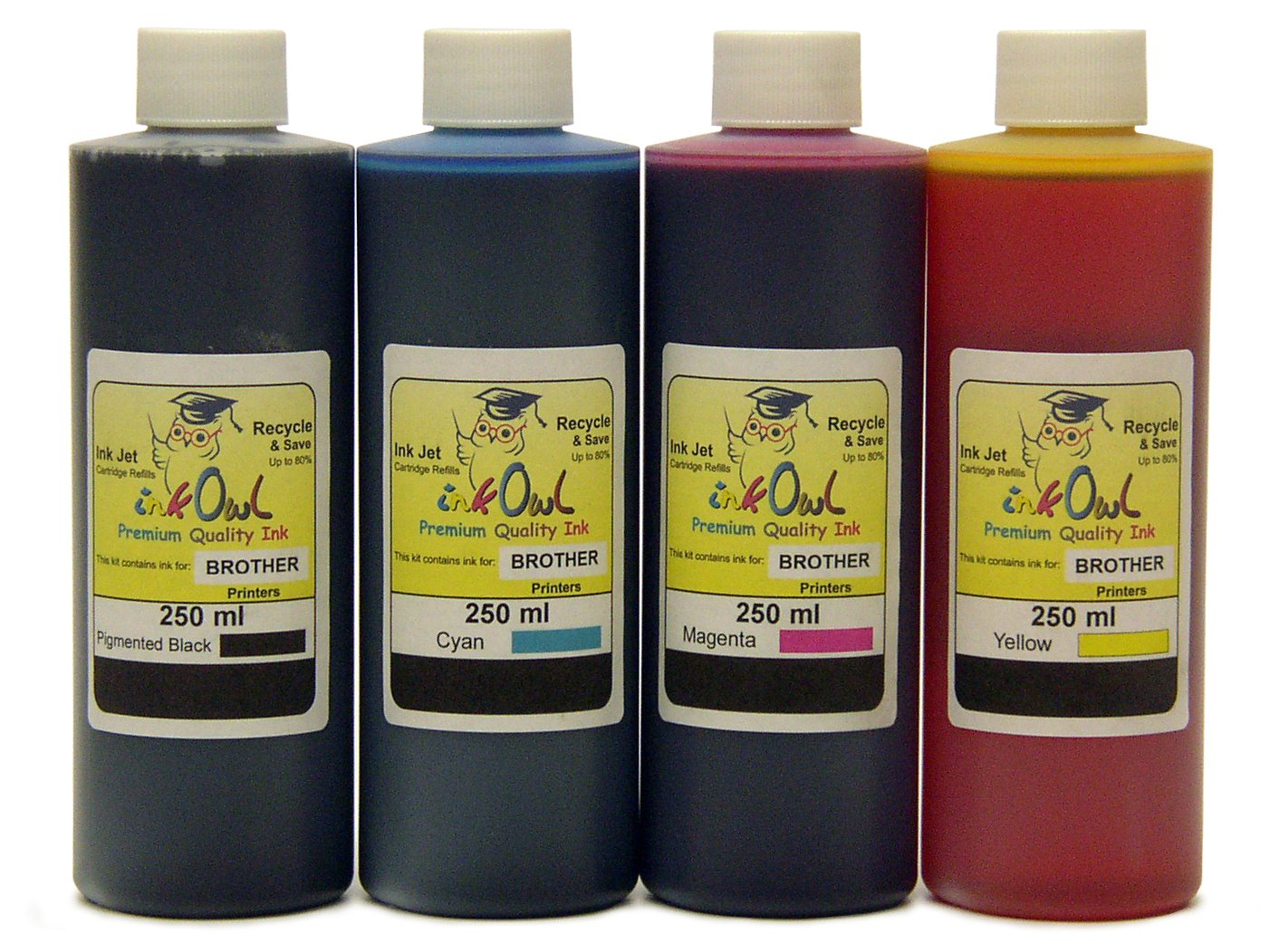 Amazon.com: 4 x 250ml inkowl tinta para Brother – fabricado ...