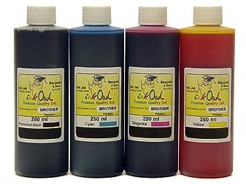 Amazon.com: 4 x 250ml inkowl tinta para Brother – fabricado ...