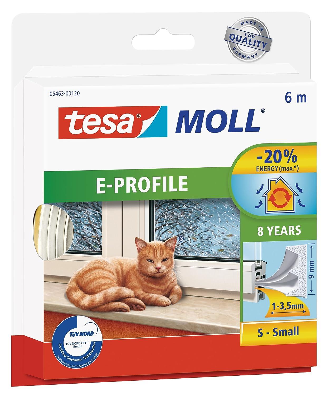 E-Profil tesamoll Gummidichtung f/ür Fenster und T/üren braun CLASSIC 10m