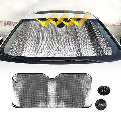 Car Windshield Sun Shade Linkstyle Car Windshield Cover Foldable Car Front  Sun Shade Windshield Visor Shield 991f8d62ae7