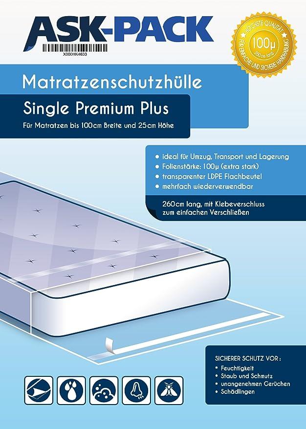 ASK Pack Bolsa de Colchón Single Premium para un Colchón hasta ...