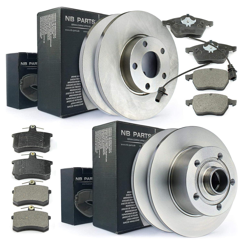 NB Parts Germany 10042316 - Dischi freno + pastiglie freno anteriori + posteriori