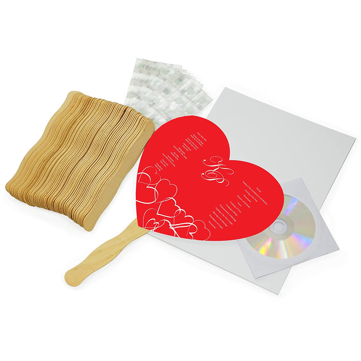 Amazon.com: Cathy\'s Concepts DIY Heart Fan Program Paper Kit Diy ...