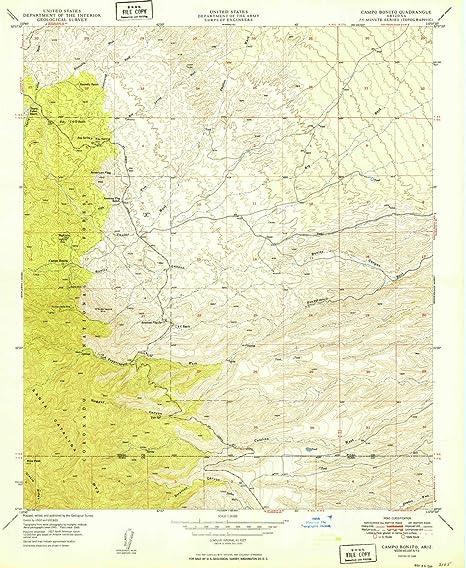 Topo Map Of Arizona.Amazon Com Yellowmaps Campo Bonito Az Topo Map 1 24000 Scale 7 5