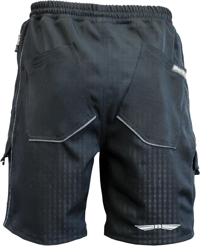Berkner Herren Fahrrad Hose Radhose Shorts mit Sitzpolster *Silver bion forte Material*
