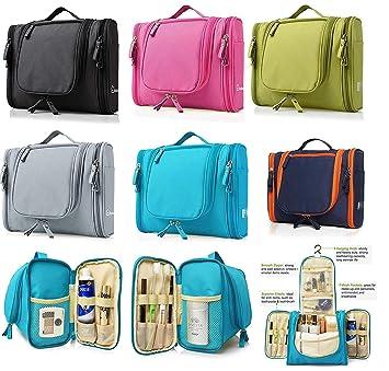 77f0502de2 PETRICE Heavy Duty Waterproof Hanging Side Open Toiletry Bag - Travel  Cosmetic Makeup Bag for Women   Shaving Kit Organizer Bag for Men ...