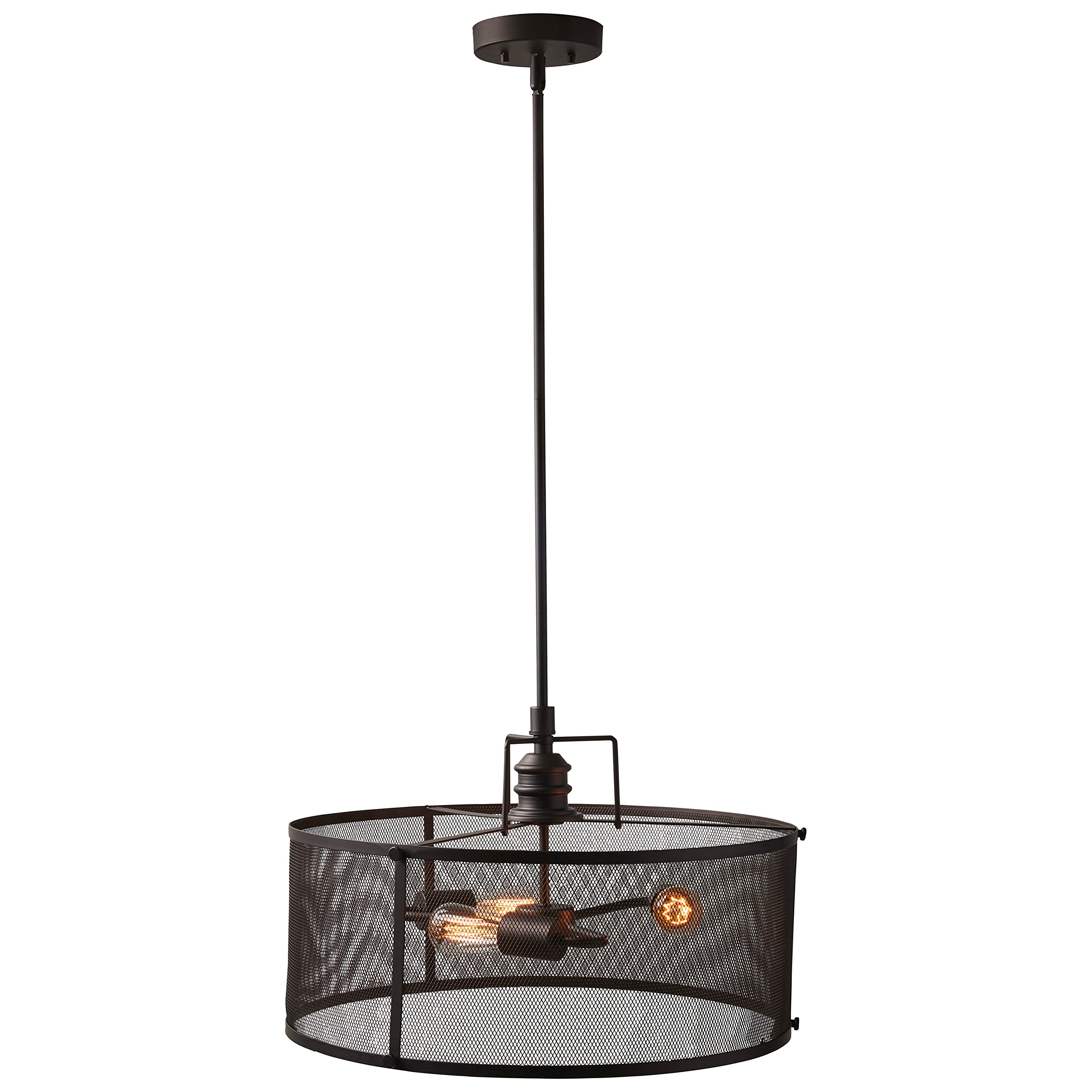 Stone & Beam Hobbs Industrial Light With Bulbs, 20.5''-62.5'' H, Oil-Rubbed Bronze