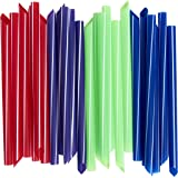 Extra-Wide Drinking Straws (100-Count) Boba Bubble Tea, Smoothies, Milkshakes and Healthy Drinks | Colored, Disposable, Recyclable | Kid-Friendly, Assorted Colors | Individually Wrapped