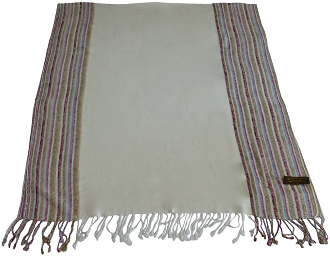 0f8f7596d Image Unavailable. Image not available for. Colour: Cream Moire Design  Pashmina Shawl Scarf Wrap Stole Pashminas ...