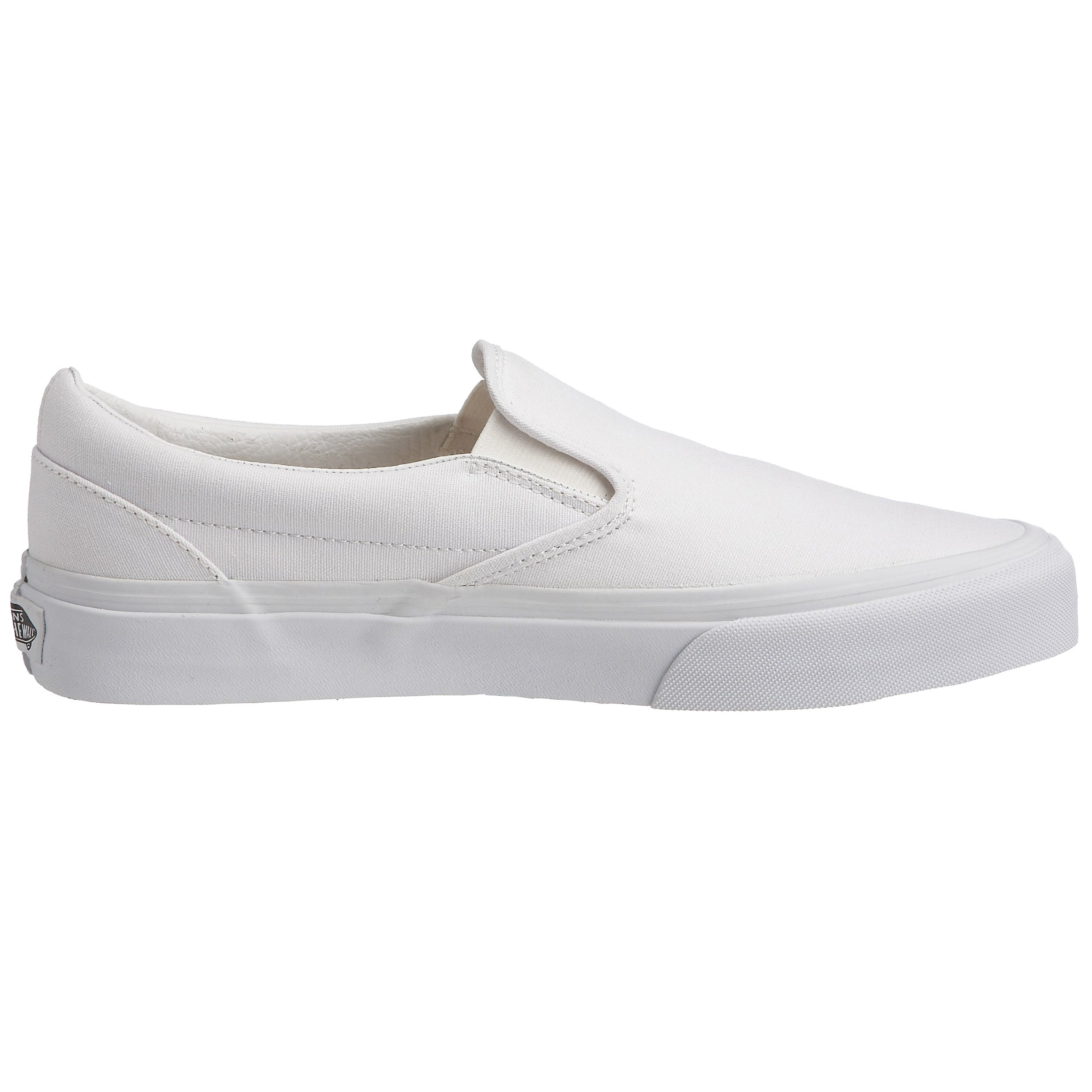 Vans Unisex Classic Slip-On(tm) Core Classics True White (Canvas) Sneaker Men's 6.5, Women's 8 Medium by Vans (Image #6)