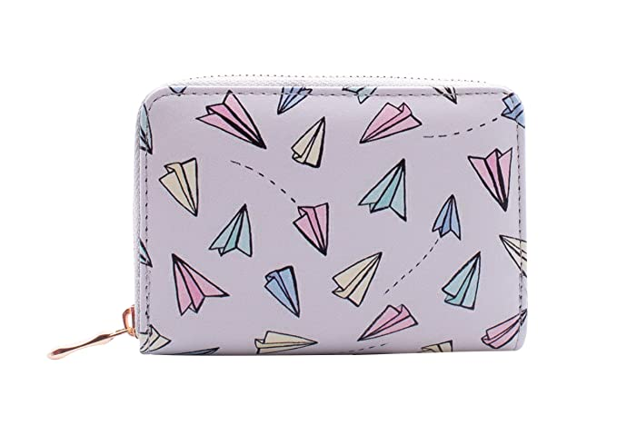 Humor Women Zipper Small Wallet Fashion Floral Print Lady Credit Coin Short Pocket Purse Clutch Bag Insulation Bags Mother & Kids