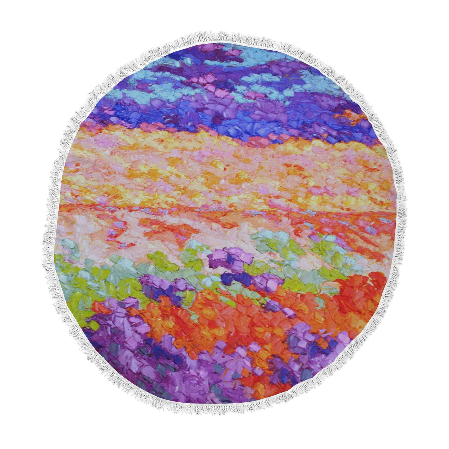 Kess InHouse Jeff Ferst Earthly Delights Floral Abstract Round Beach Towel Blanket