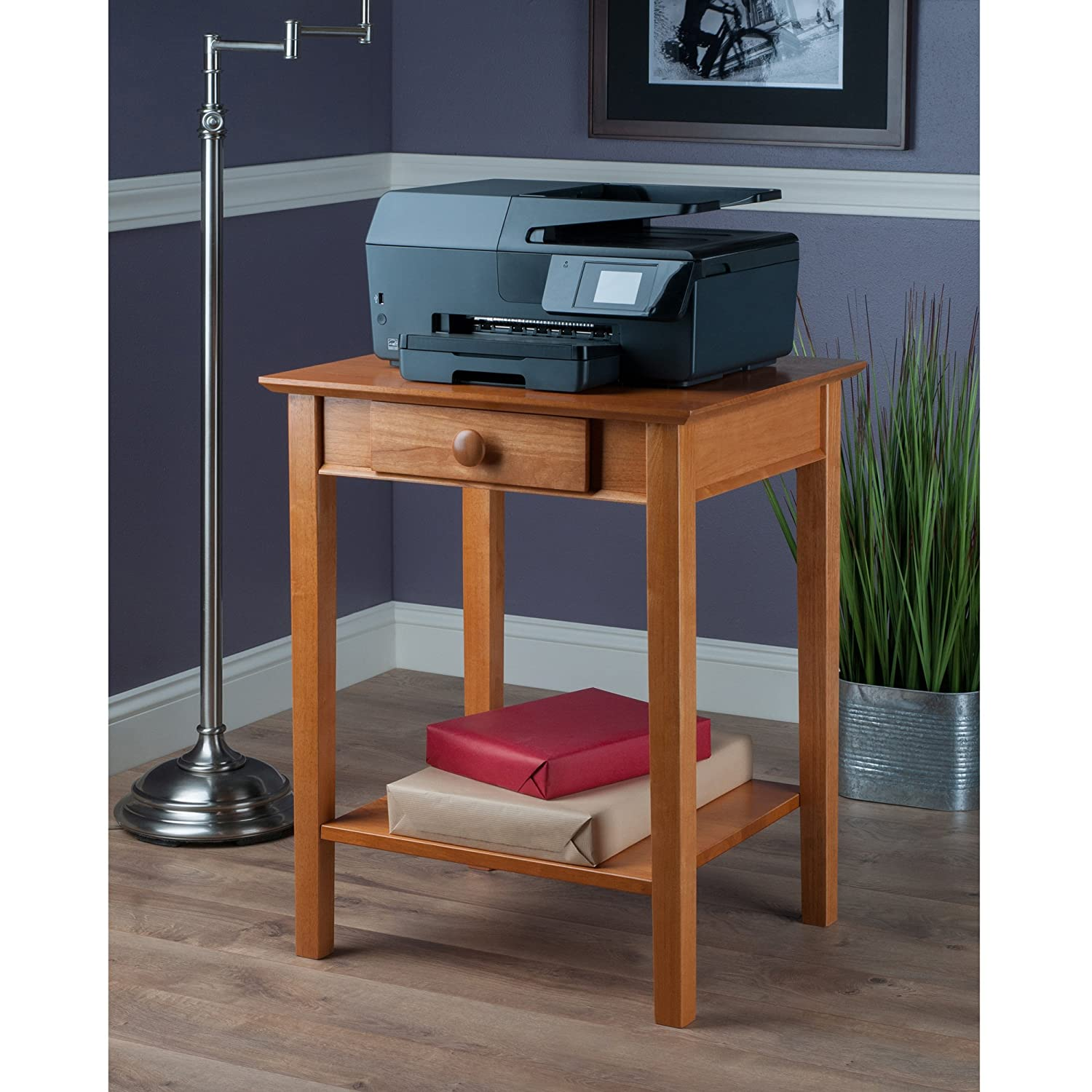 Hidden Printer Cabinet Amazoncom Winsome Wood Printer Stand With Drawer And Shelf