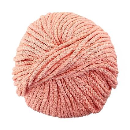 e83019f9ff2d98 Amazon.com  JubileeYarn Bamboo Cotton Chunky Yarn - Dreamy Blush - 2 ...