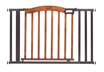 summer infant decorative wood metal 5 foot pressure mounted gate brownblack - Decorative Wood