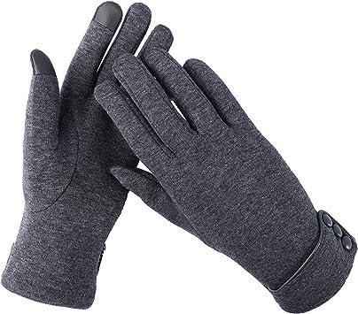 Aibrou Guantes Invierno Mujer Tactiles Pantalla Guantes y manoplas ...