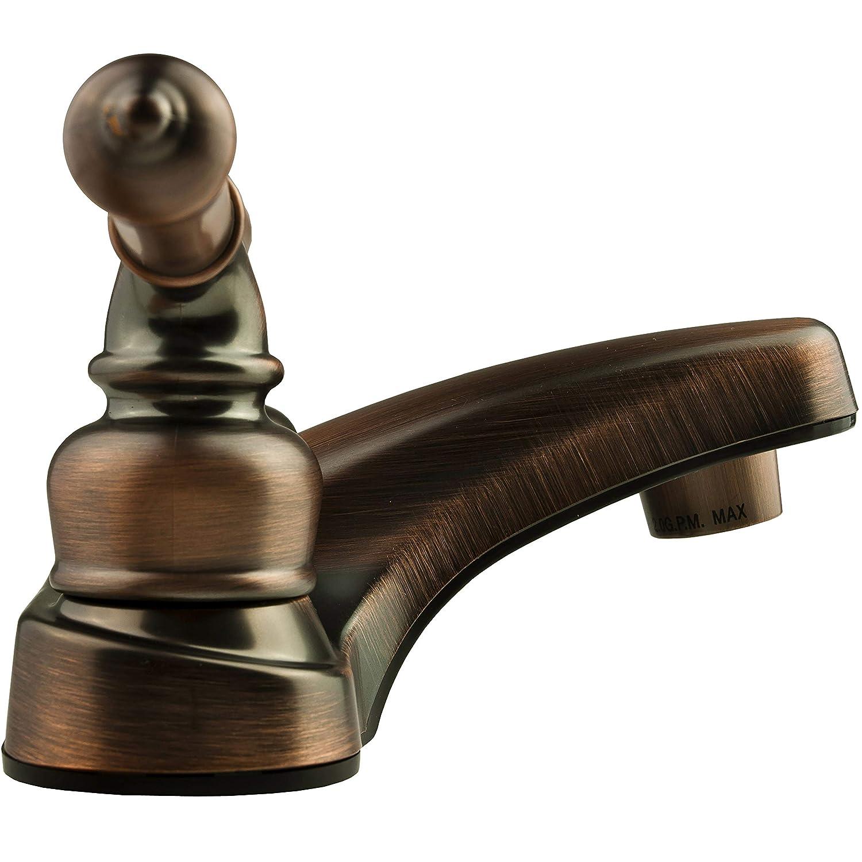 Bisque Parchment Dura Faucet RV Bathroom Faucet with Classical Handles DF-PL700C-BQ
