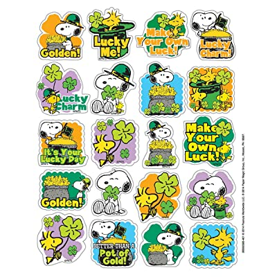 Eureka Peanuts St. Patrick's Stickers, Theme (655059): Office Products