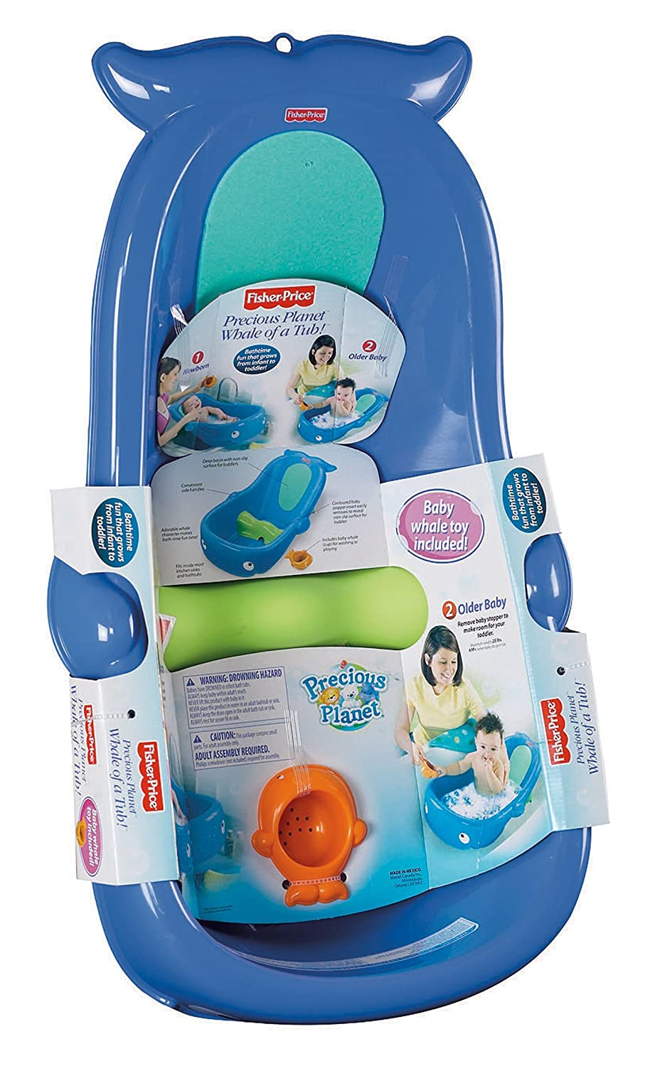 Amazon.com : Fisher-Price Whale of a Tub : Baby