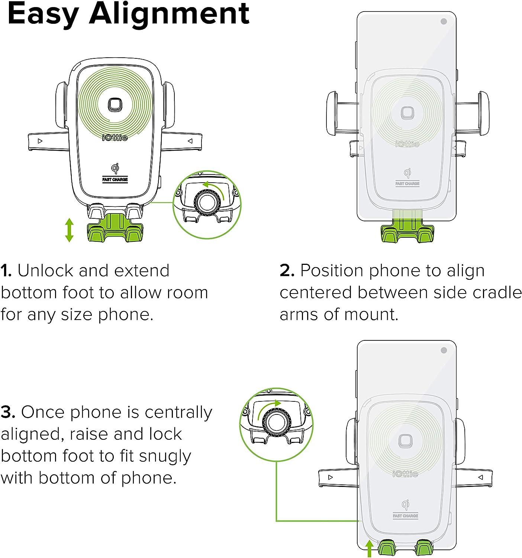 Iottie Hlcrio134 Easy One Touch 4 Qi Kabellose Elektronik