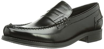 Geox UOMO SILVIO - Zapatillas de casa de cuero hombre, color negro, talla 45