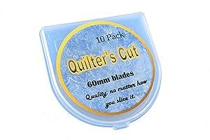 Quilter's Cut 60mm Rotary Blades, 10 Pack, Fits Olfa, Fiskars, Martelli, & Truecut