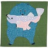 むす美 むすび kata kata kata 浴室敷 テキスタイルデザイン 104cm 绿色 104cm 20012-301