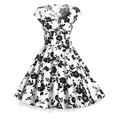 new 50s ladies floral print full circle pinup vintage style swing Pink Petticoat Skirt new 50s ladies floral print full circle pinup vintage style swing rockabilly dress womens uk
