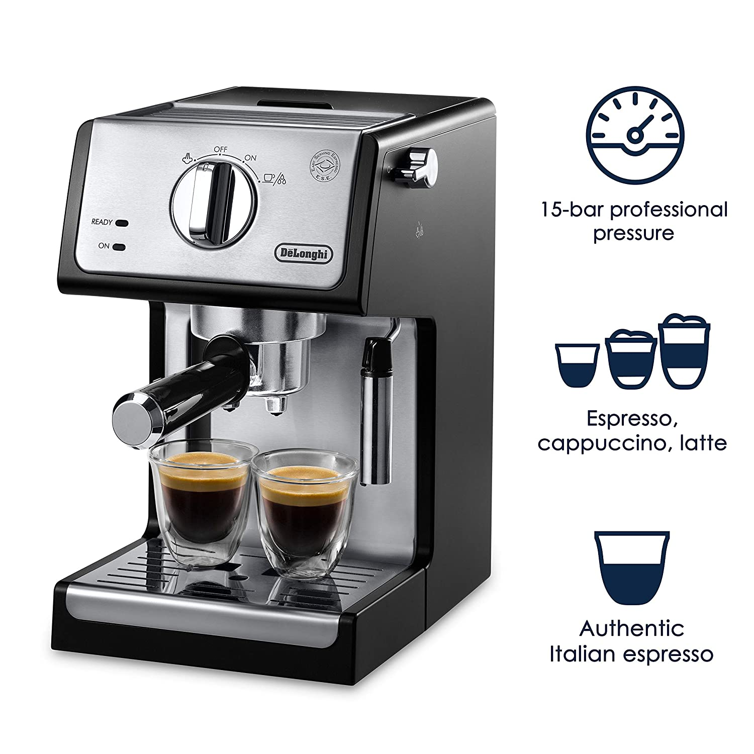 Amazon.com: DeLonghi ECP3420 Bar Pump Espresso and Cappuccino Machine 15