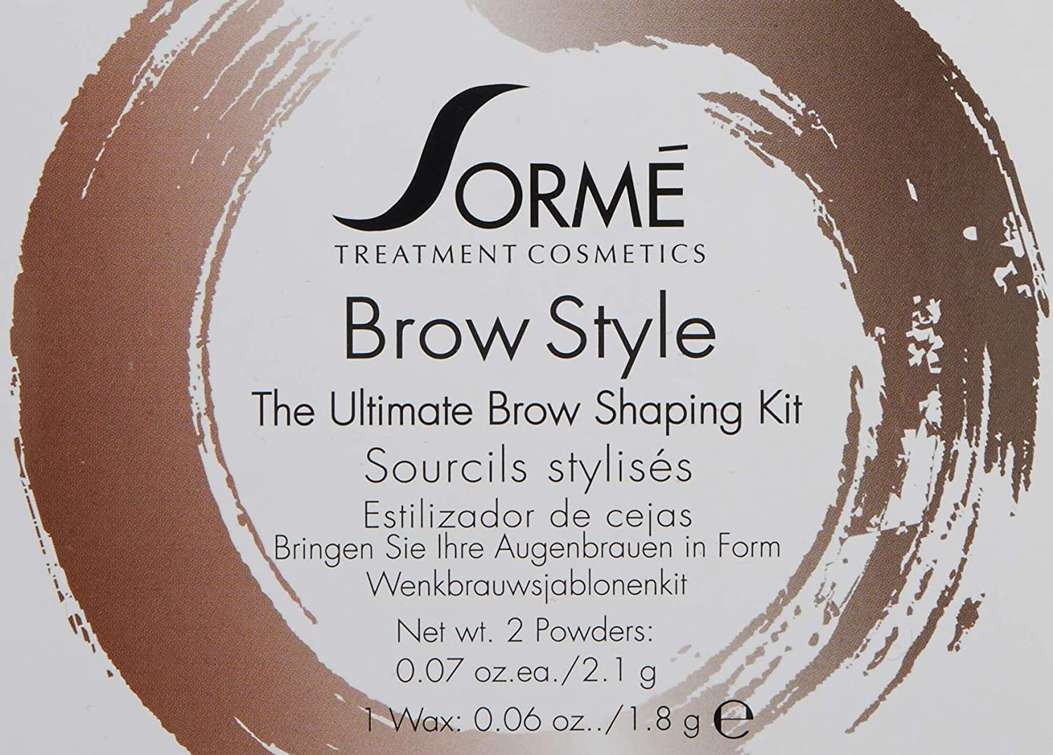 Sorme Cosmetics Brow Style, Brunette, 0.2 Ounce