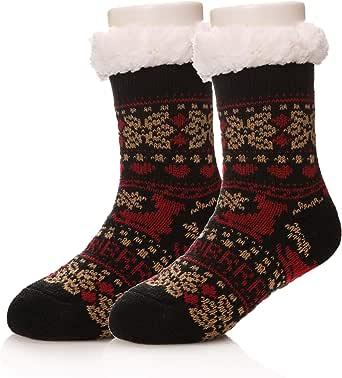 Kids Boy Girl Soft Thick Warm Slipper Socks Winter Fleece Fuzzy Non-Skid Children Home Socks