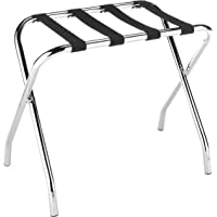 Whitmor Chrome Luggage Rack   Foldable   Commercial Quality