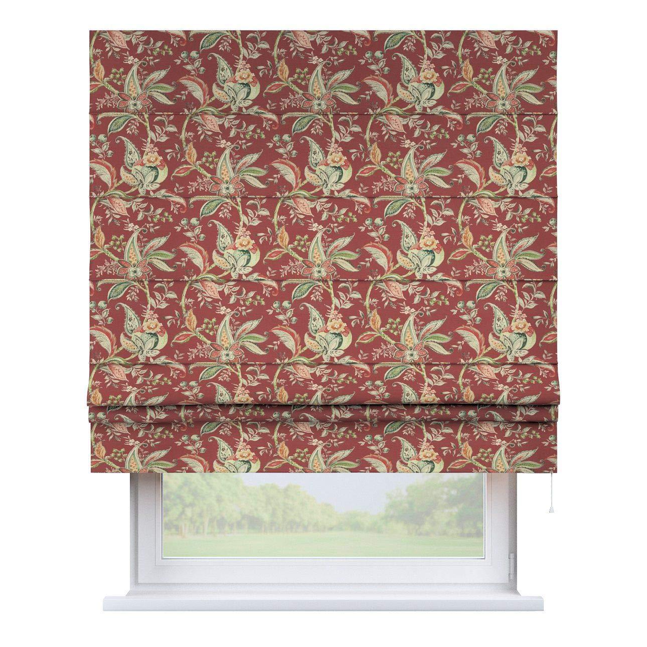 Dekoria Raffrollo Padva ohne Bohren Blickdicht Faltvorhang Raffgardine Wohnzimmer Schlafzimmer Kinderzimmer 100 × 170 cm rot Raffrollos auf Maß maßanfertigung möglich