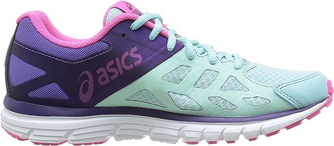 Asics Gel Zaraca 3 - Zapatillas de running para mujer, color Mint/N.Pink/D.Purp, talla 36, Blue (6535-Mint/Neon Pink/Dark Purple), EU 36 (US 5.5): Amazon.es: Zapatos y complementos