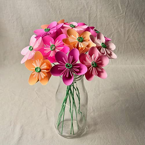 Amazon Com Pink Blush Origami Flower Bouquet Handmade