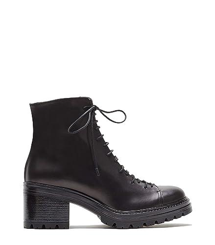 Josi Blockabsatz Schuhe Poi Stiefeletten Lei Leder Schnürstiefelette Schwarz Damen g6IYymbf7v