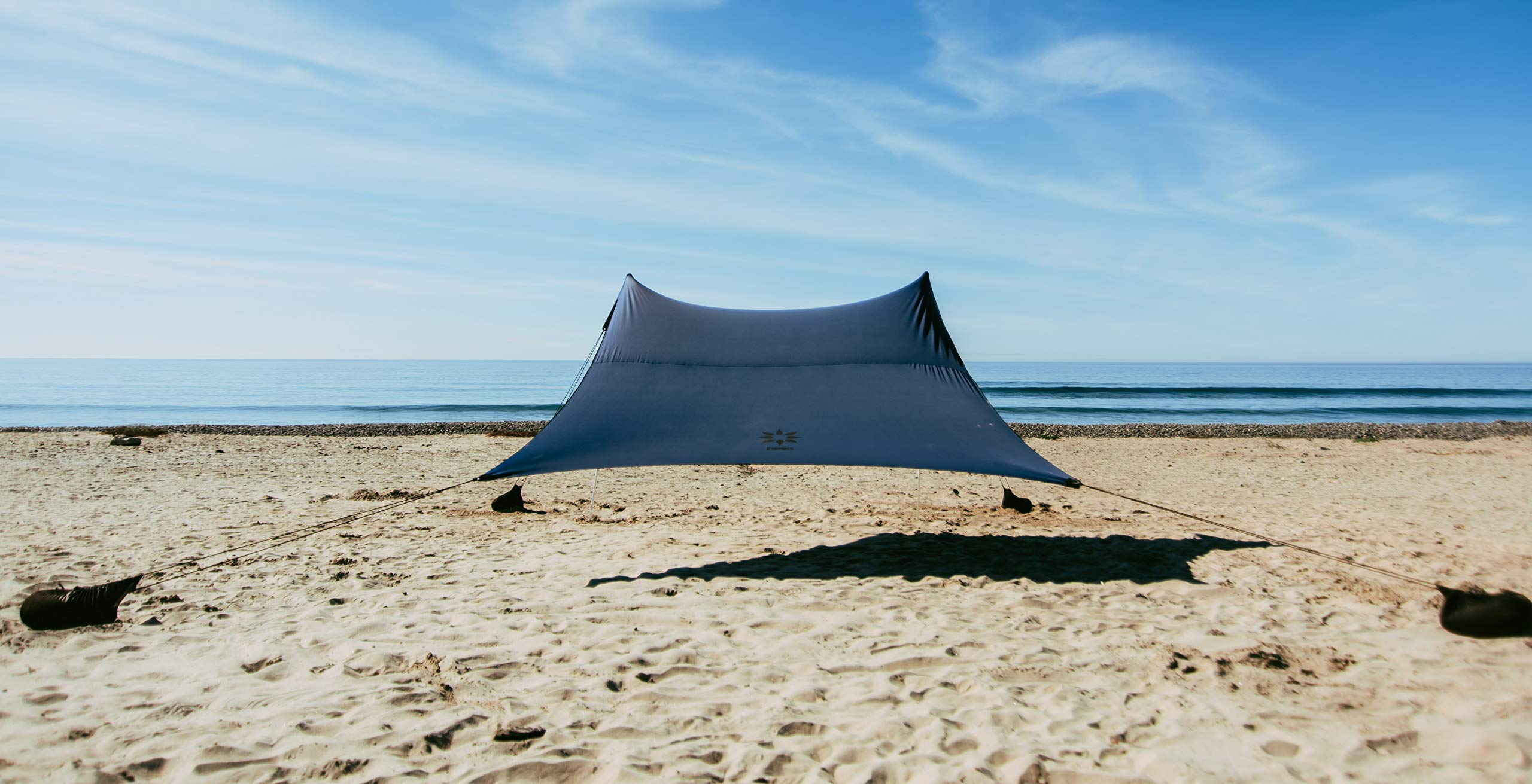 Neso Tents Grande Beach Tent, 7ft Tall, 9 x 9ft, Reinforced Corners and Cooler Pocket (Navy) by Neso