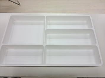 IKEA bandeja de cubertería grande/organizador de cajones, blanco: Amazon.es: Hogar