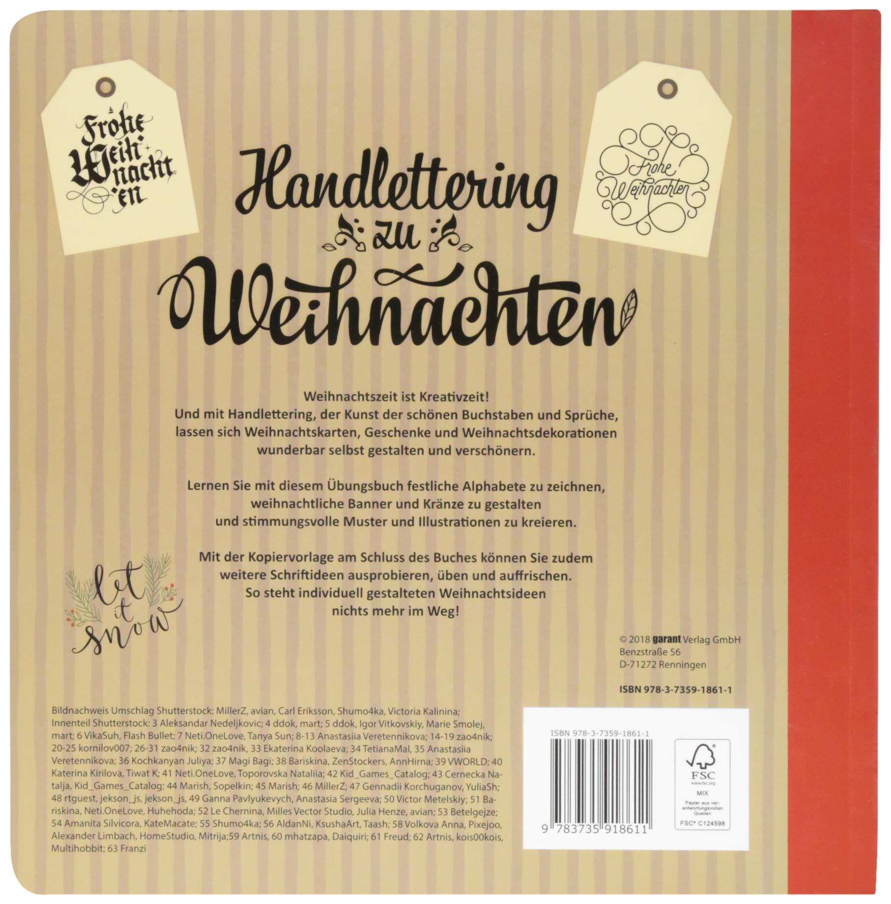 Handlettering zu Weihnachten: Amazon.de: garant Verlag GmbH: Bücher