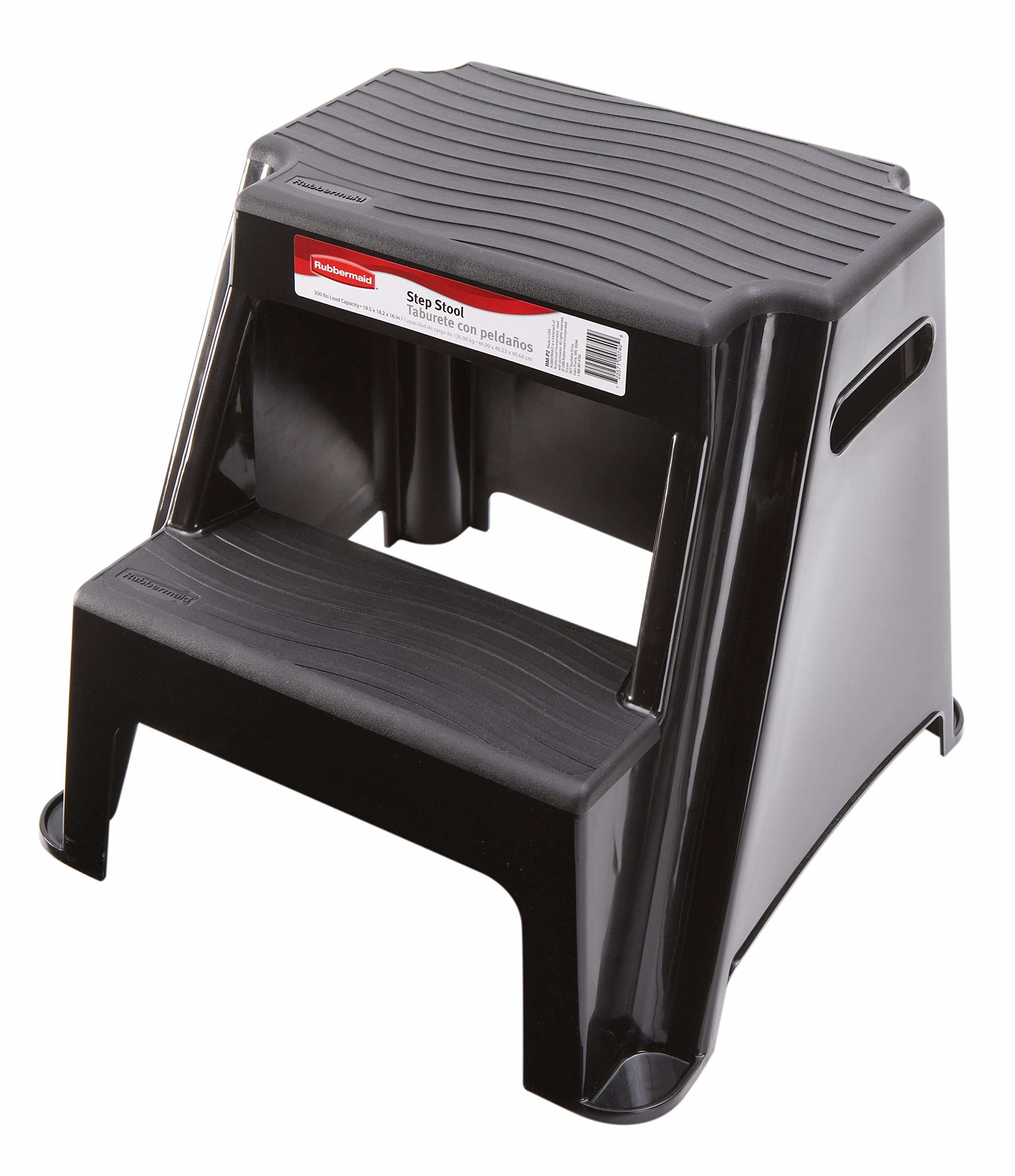 Rubbermaid RM-P2 2-Step Molded Plastic Stool with Non-Slip Step Treads 300-Pound Capacity by Rubbermaid