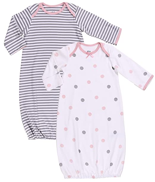 Amazon.com: Baby Gown Newborn Nightgowns - Girl Wearable Blanket ...